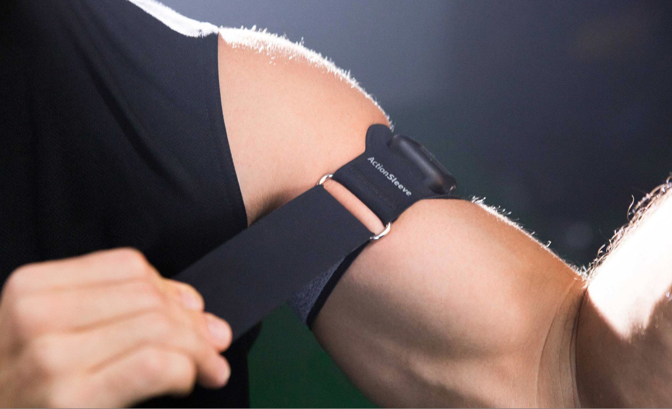 ActionSleeve straps your Apple Watch to your upper arm or bicep, and surrounds the device in rubber to protect it.