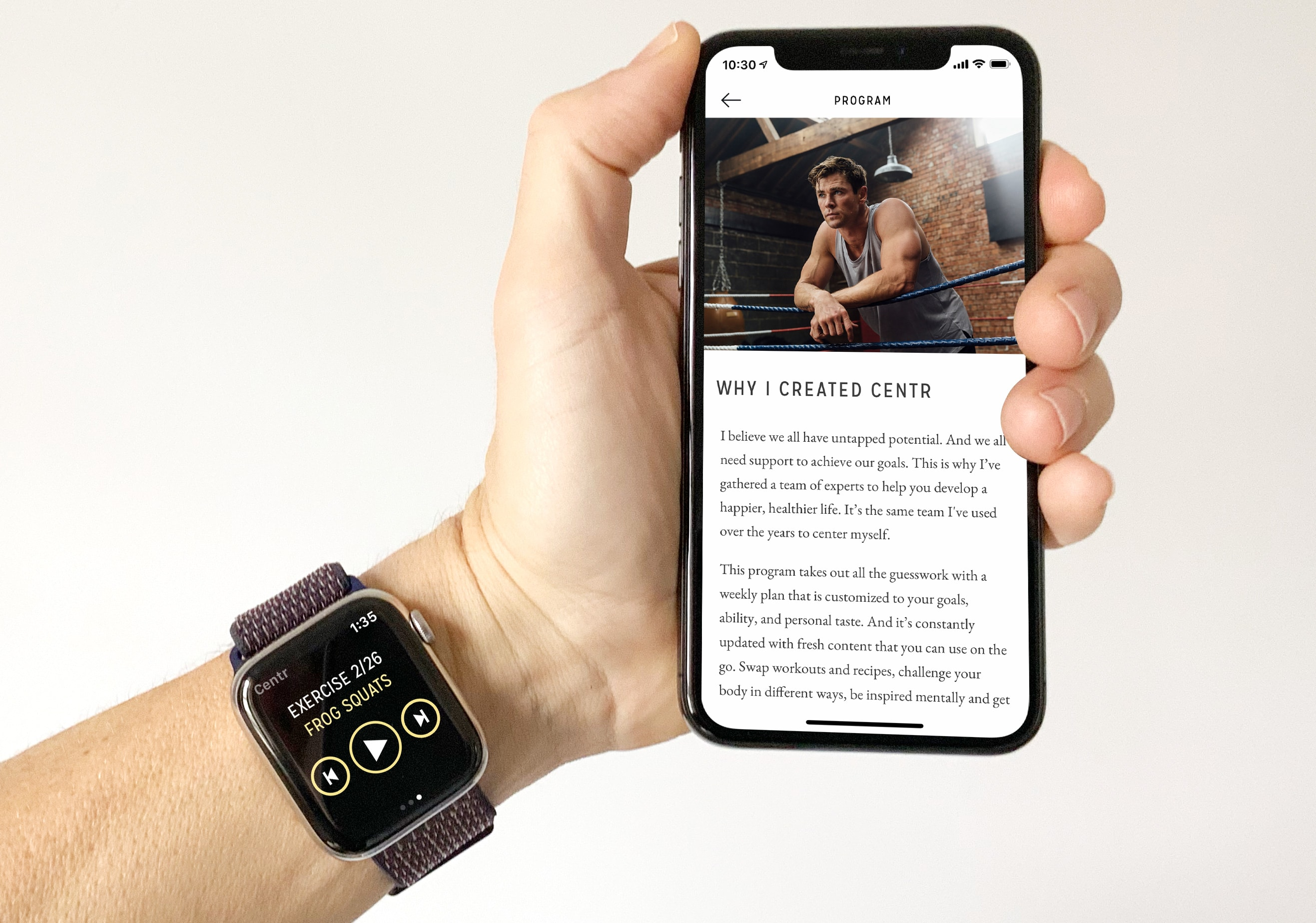 Centr is a new fitness app by Avengers star Chris Hemsworth