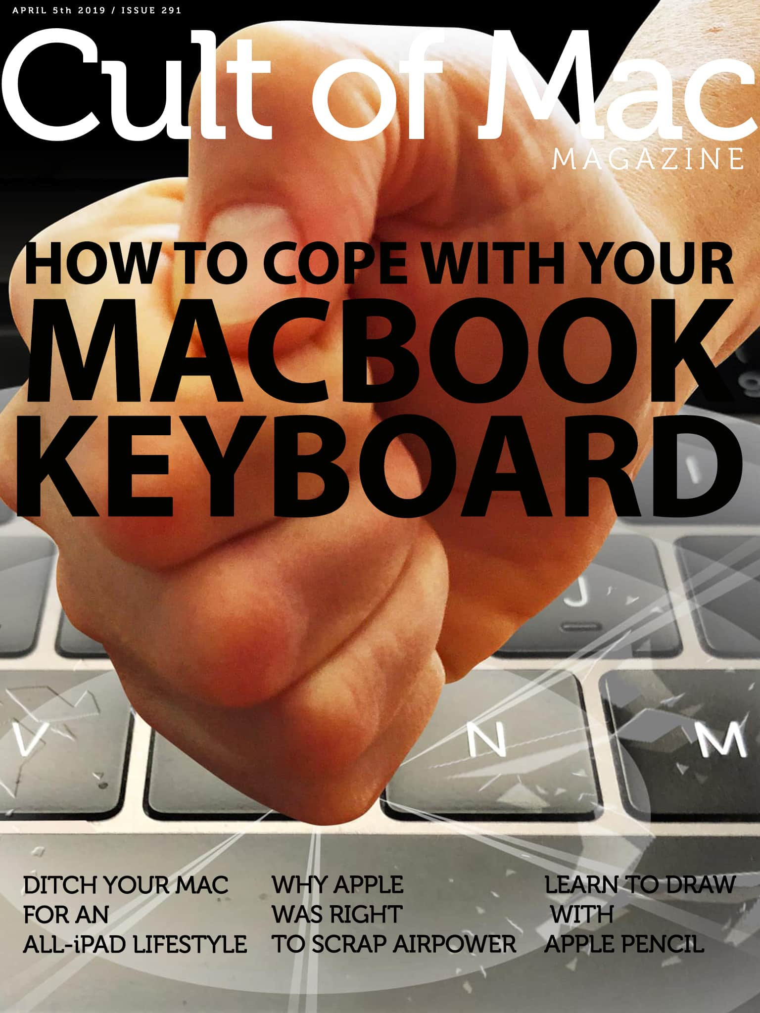 No, pounding your stuck MacBook keyboard in rage is not the answer.