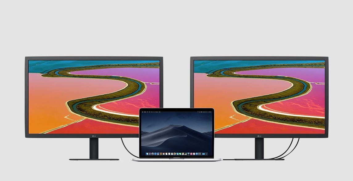 Dual LG UltraFine 4K Display with MacBook
