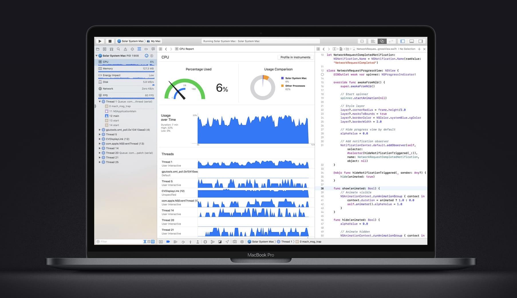 MacBook Pro coding