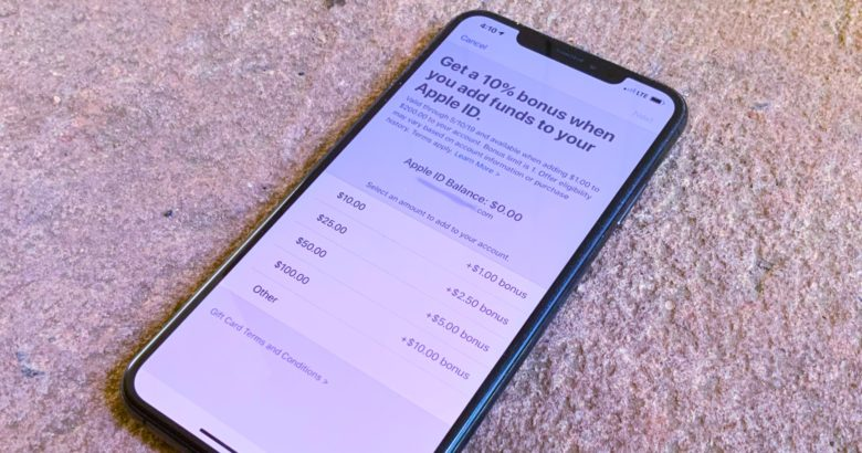 Apple will add to the funds you put in your Apple ID account this week.