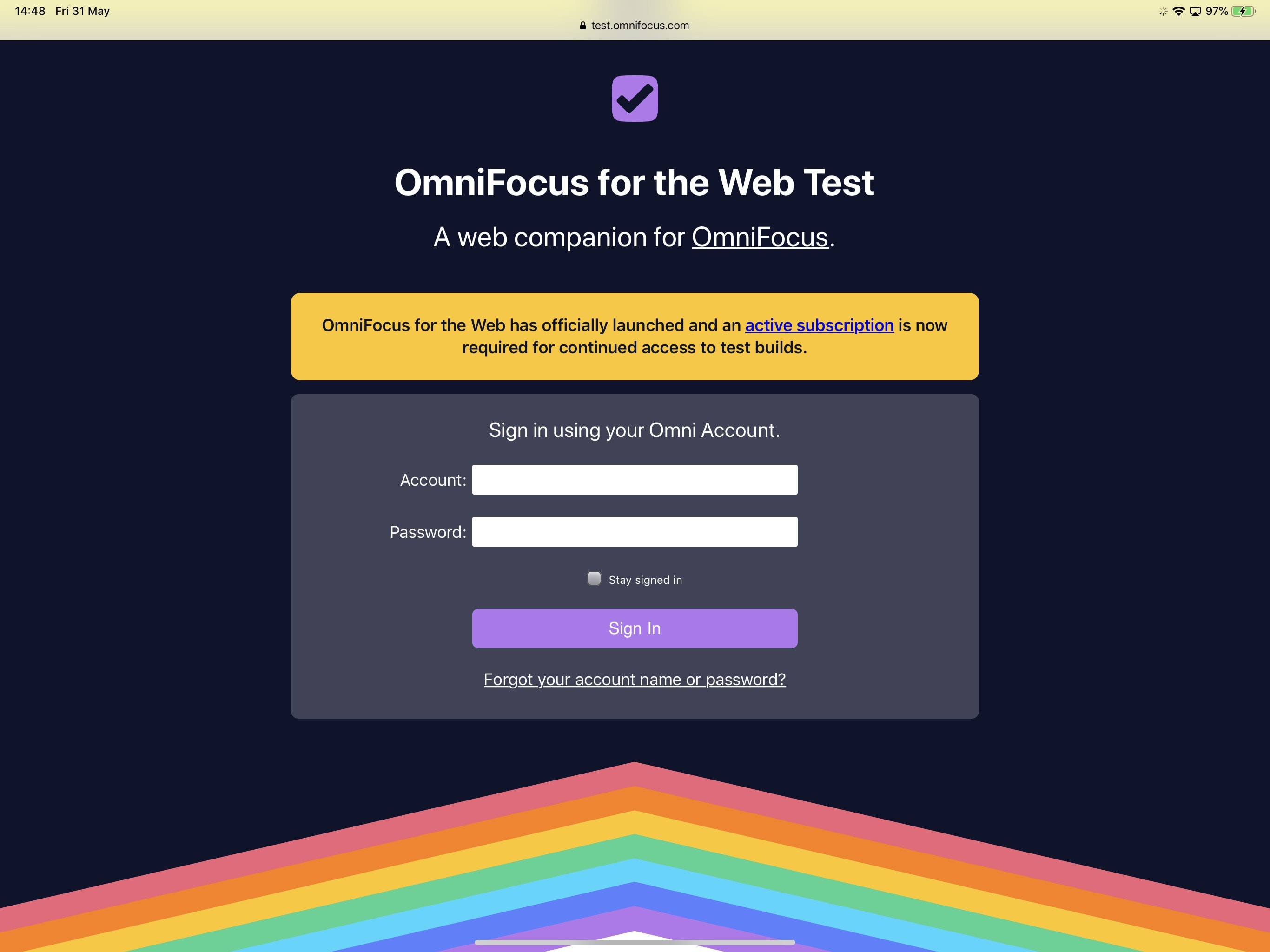 OmniFocus for the Web