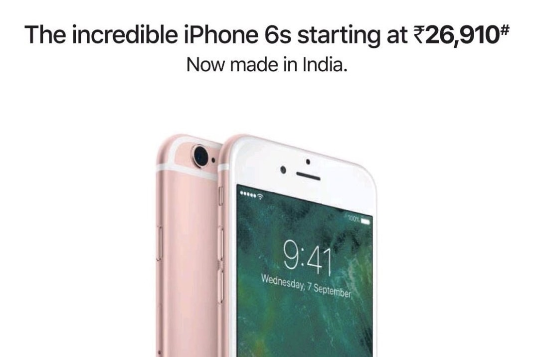 Apple Promotes 'incredible' iPhone 6s Units Made in India