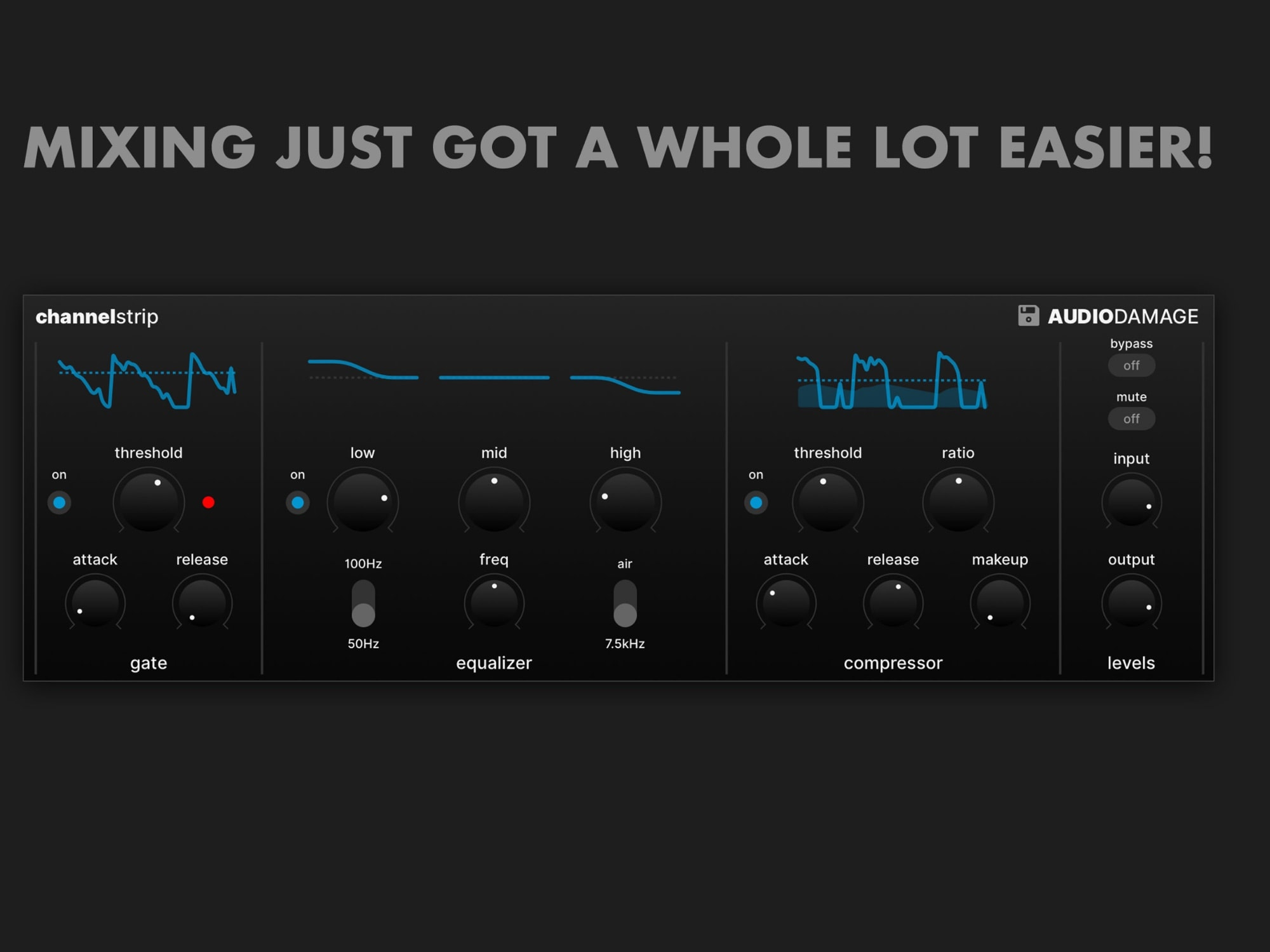 Quick EQ and other tweaks with ChannelStrip.