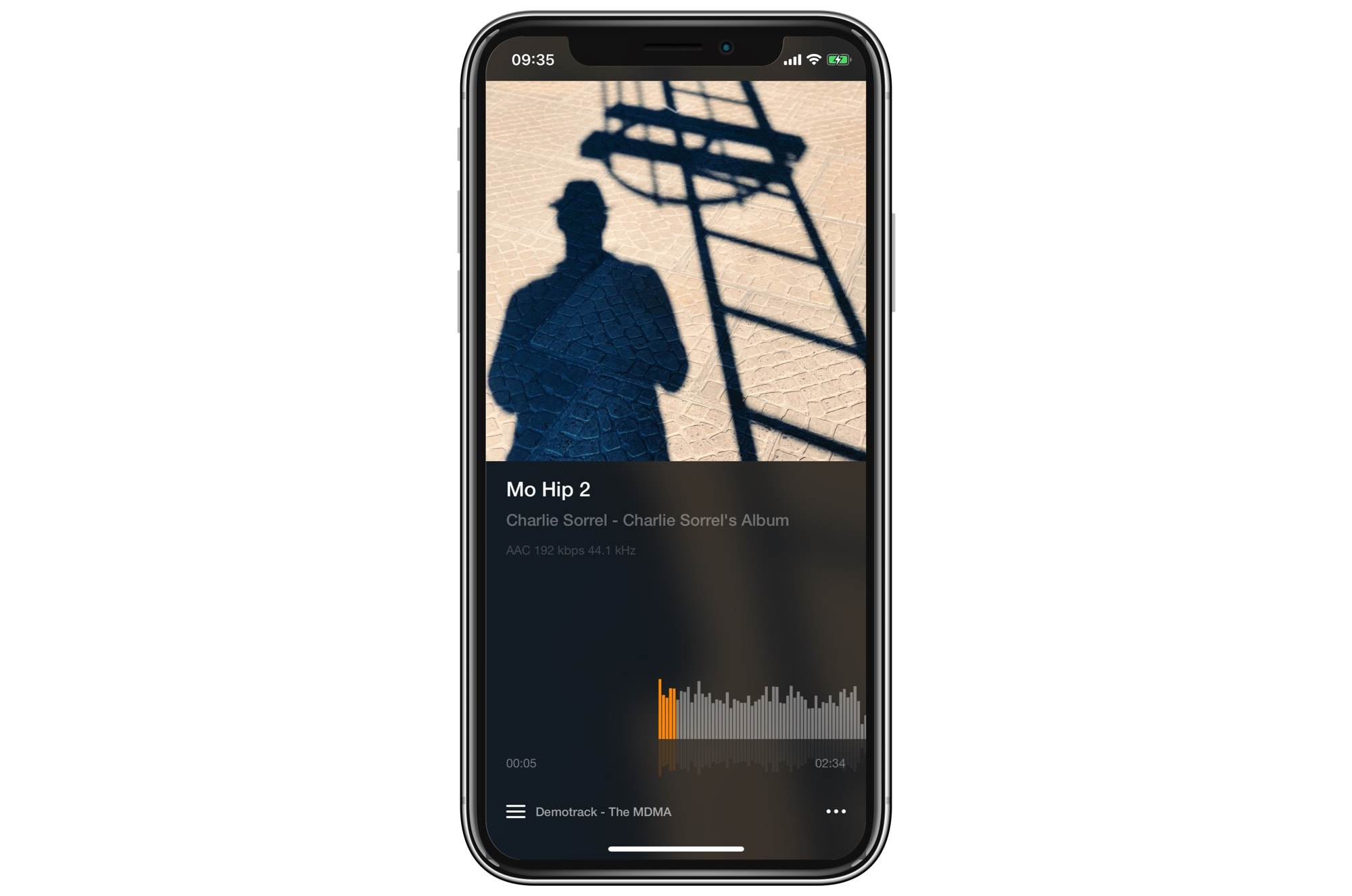 Vox even shows embedded album art.
