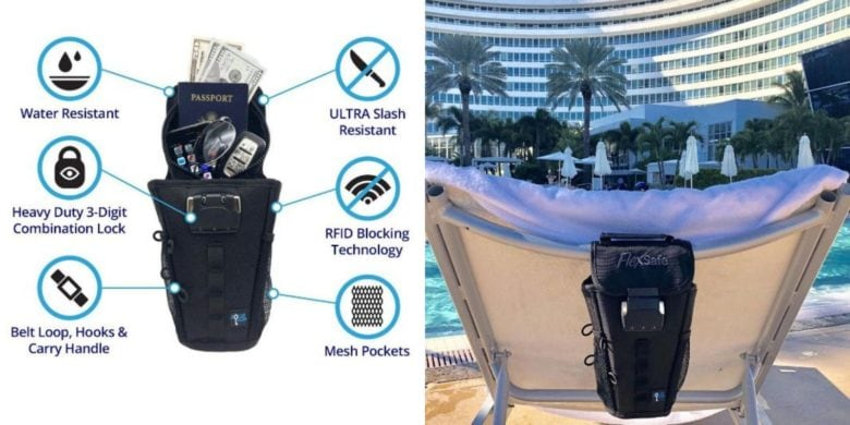 This portable safe protects your most valuable gear from splashes. scrapes and RFID scanners.