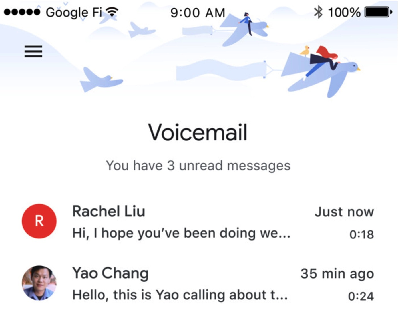 Google's Wireless Phone Service Adds Visual Voicemail for iOS