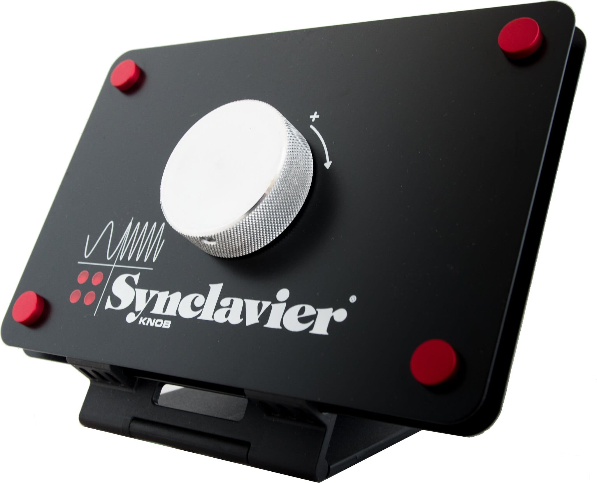 The Synclavier Knob fits many iPad mini stands.