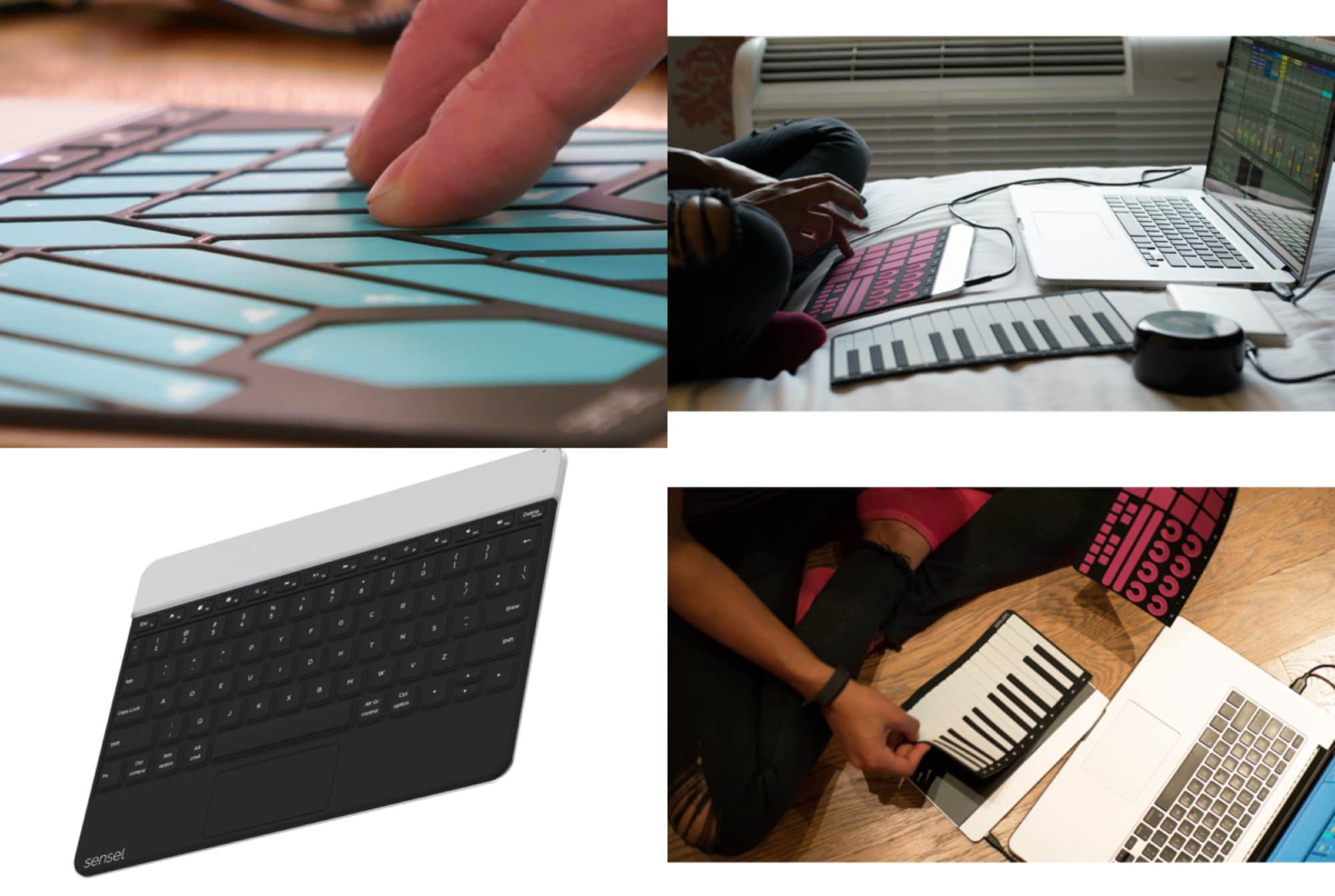 The Sensel Morph keyboard is portable and flexible.
