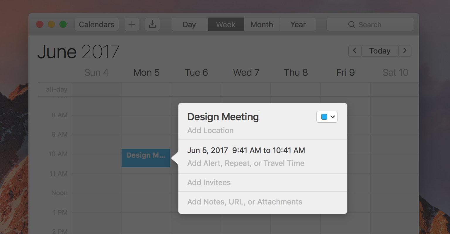 Calendar uses the same trick.