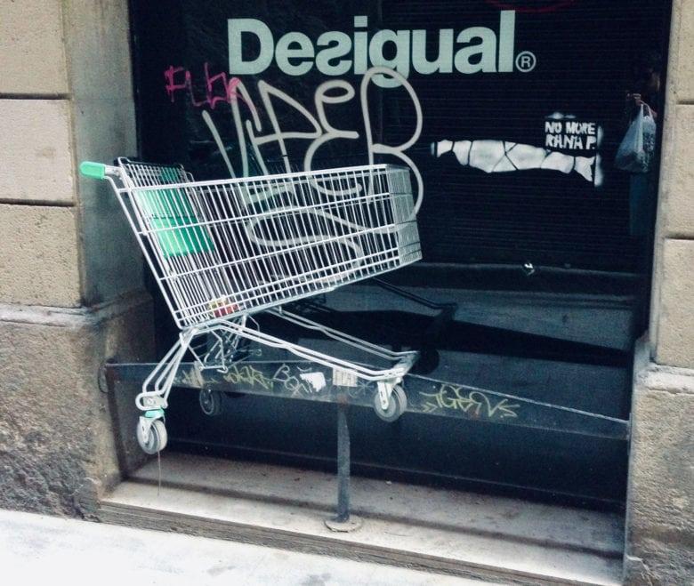 Shopping cart/refund metaphor.