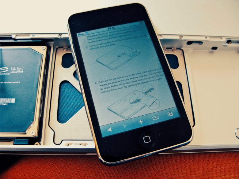 It's a repair manual! The iPod touch can be anything.