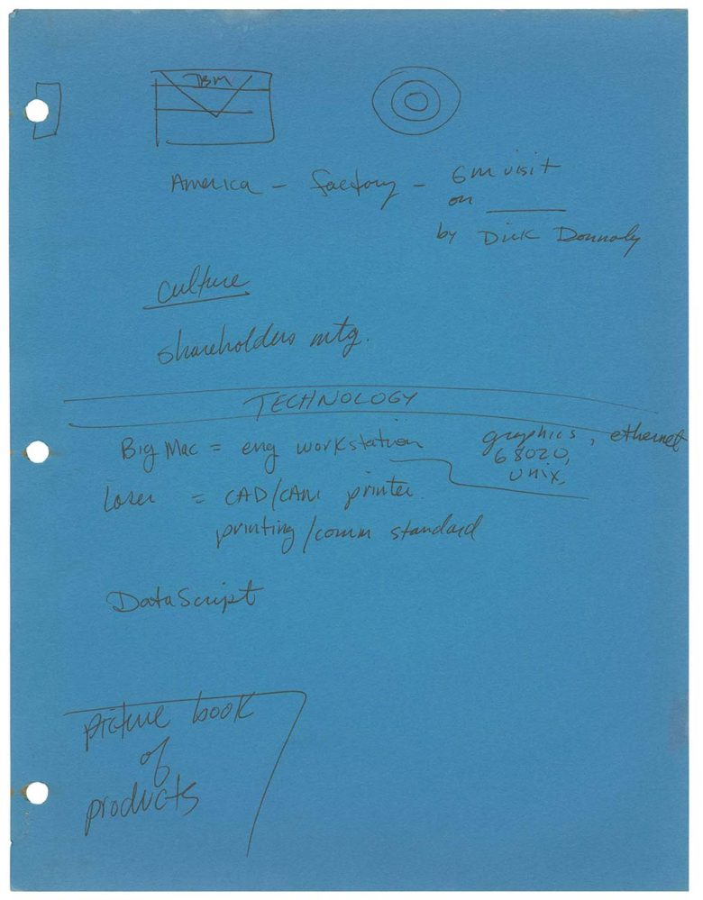 Steve Jobs' doodles