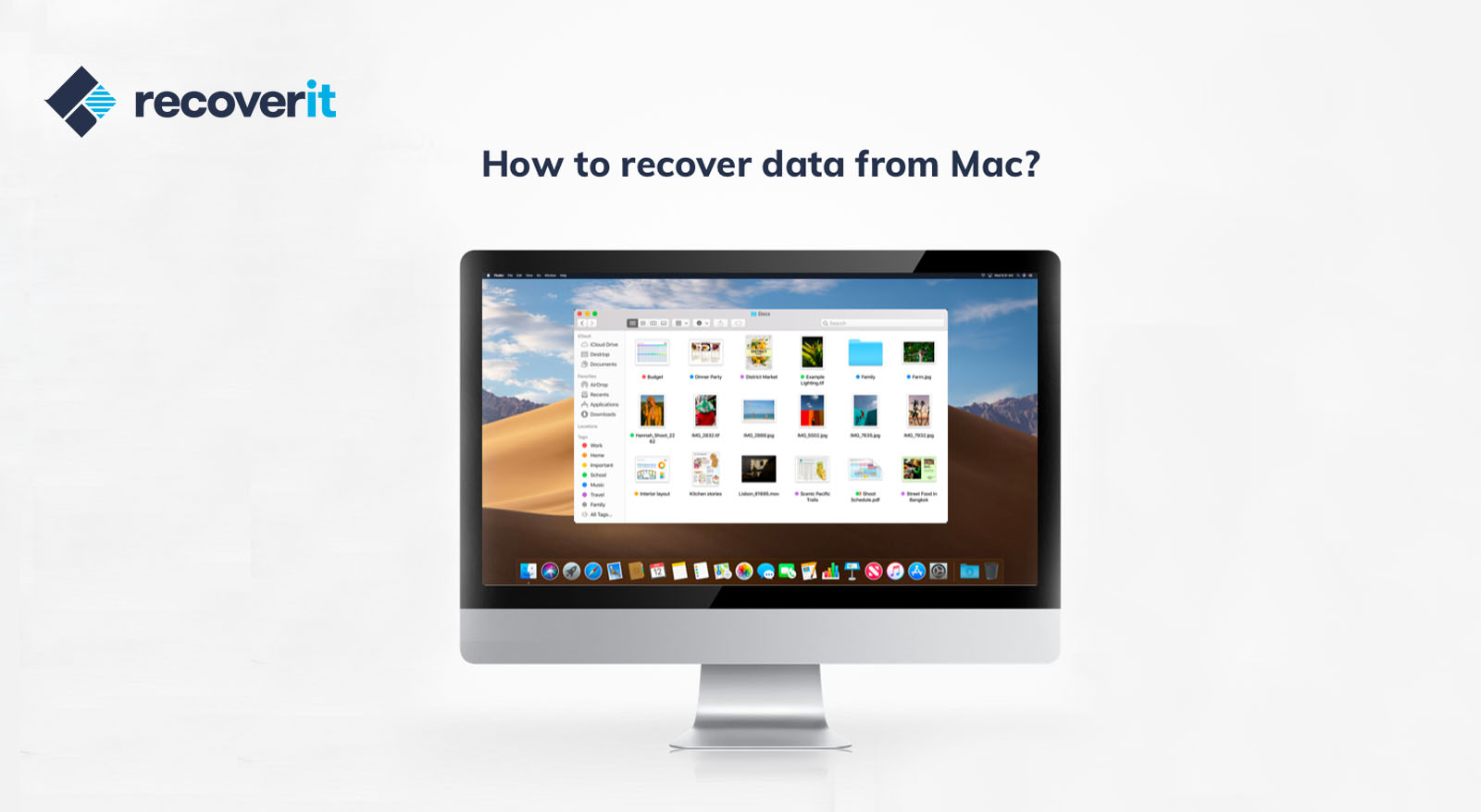 Mac data recovery is easy with Wondershares Recoverit.