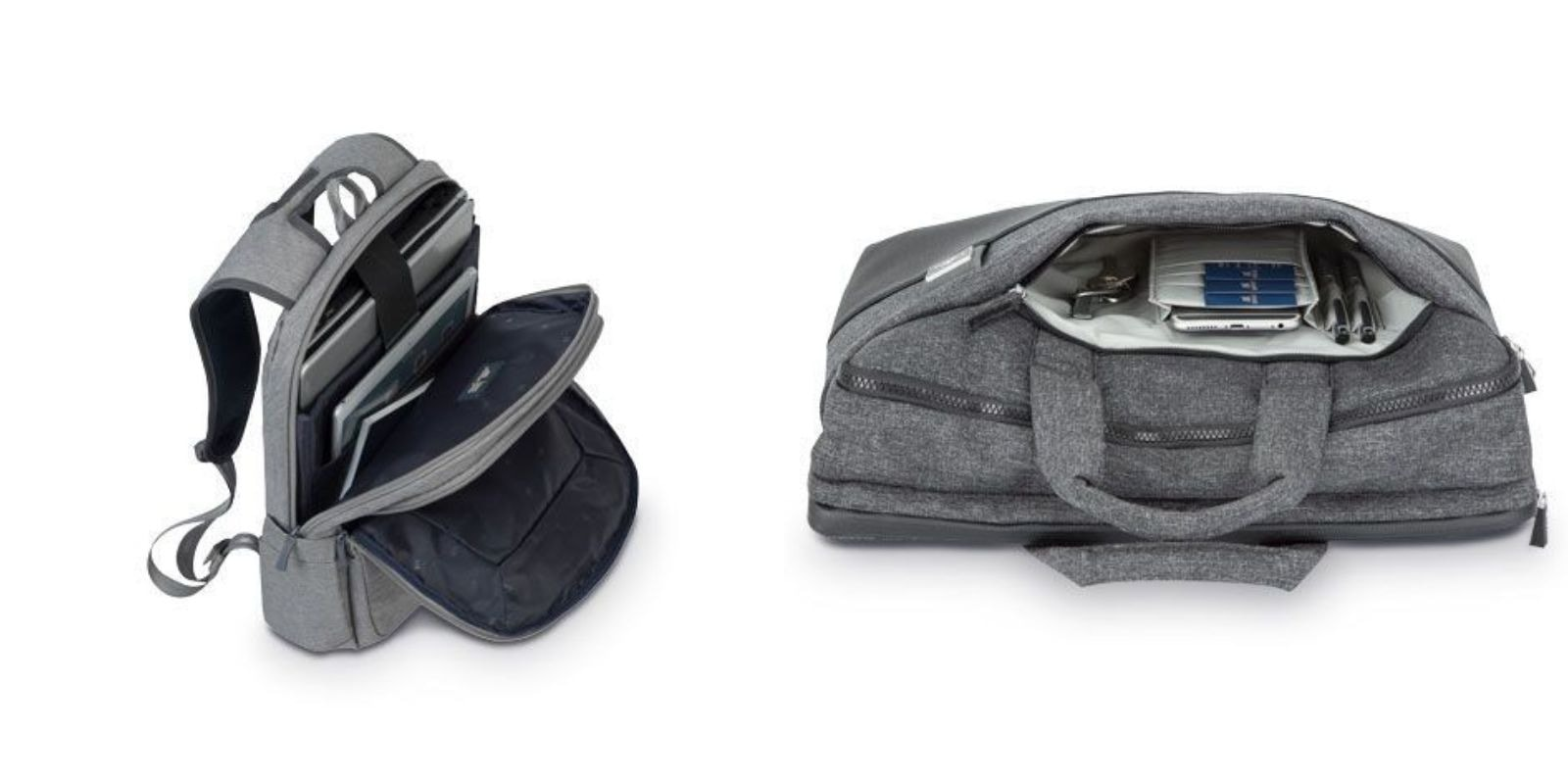 This pair of laptop bags offers great choices for carrying your gear comfortably and in style.