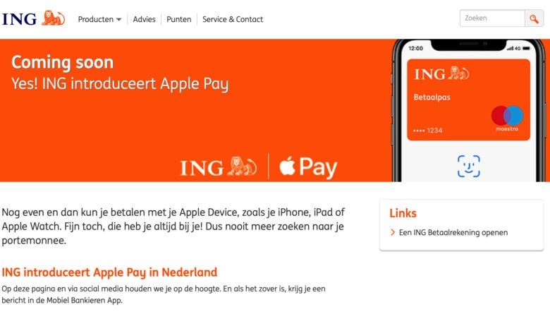 Apple Pay Netherlands