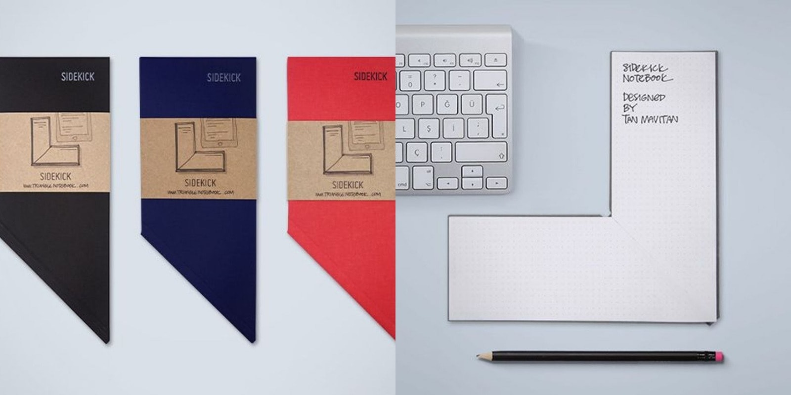 This cleverly designed notepad stays out of the way and well within reach.