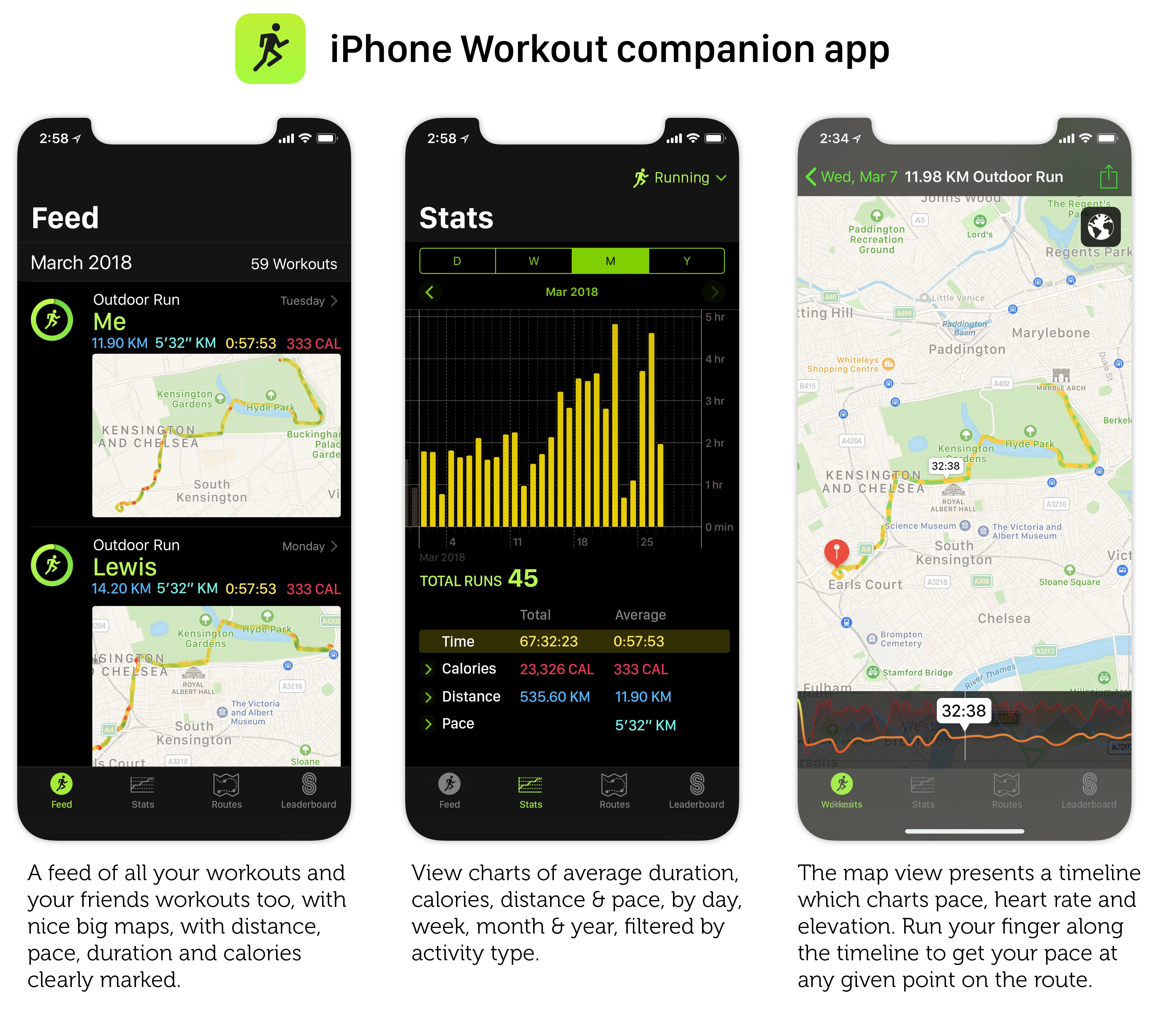 Workouts deserve their own dedicated app.
