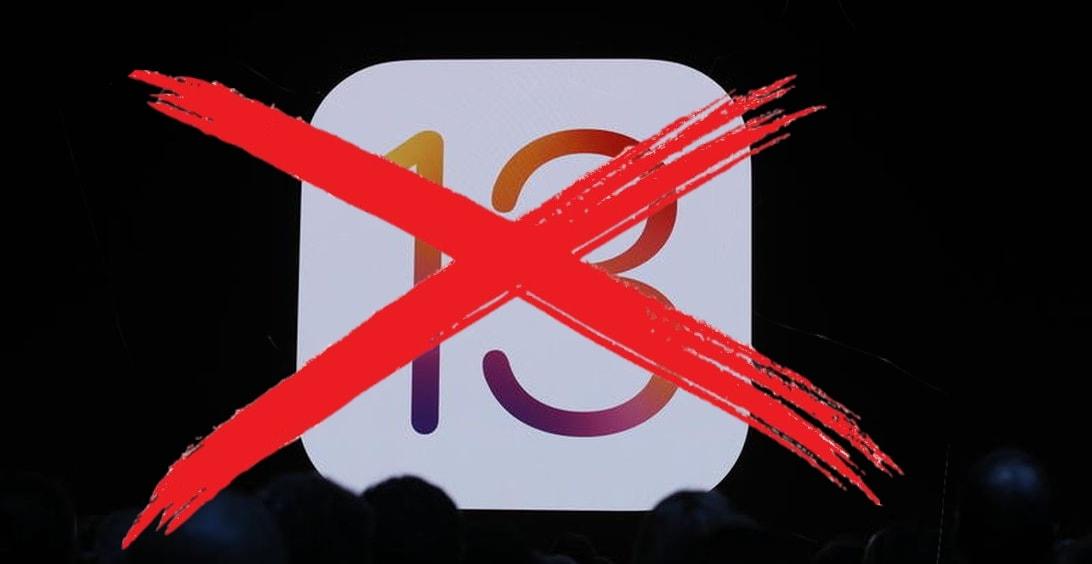 No iOS 13