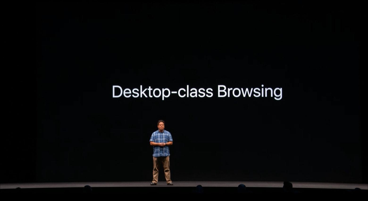 Safari in iPadOS desktop-class browsing