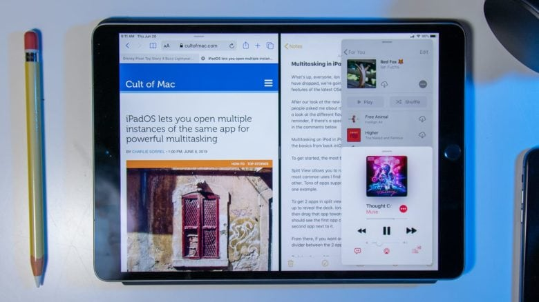 Multitasking gives you the power to use up to three apps at once on iPad.