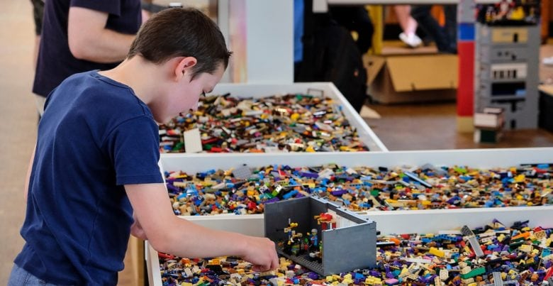 Lego fans build huge diorama