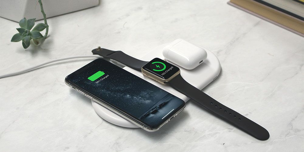 This sleek wireless charging pad can juice up a Qi-enabled iPhone, Apple Watch and AirPods all at once.