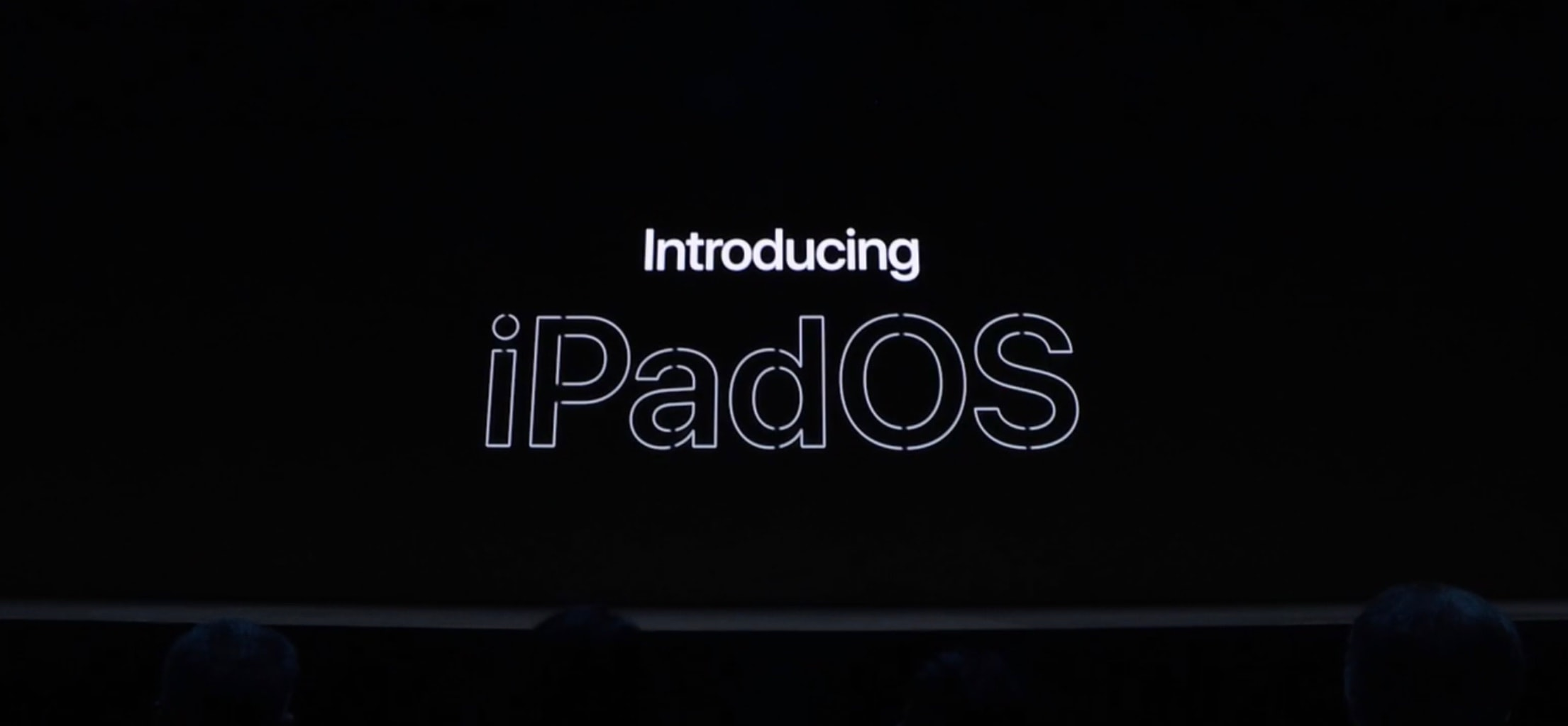 iPadOS is the new name of the tablet version of iOS.