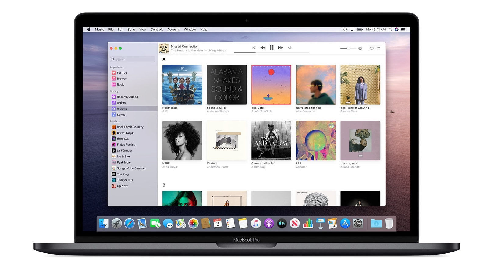 Apple Music in macOS Catalina