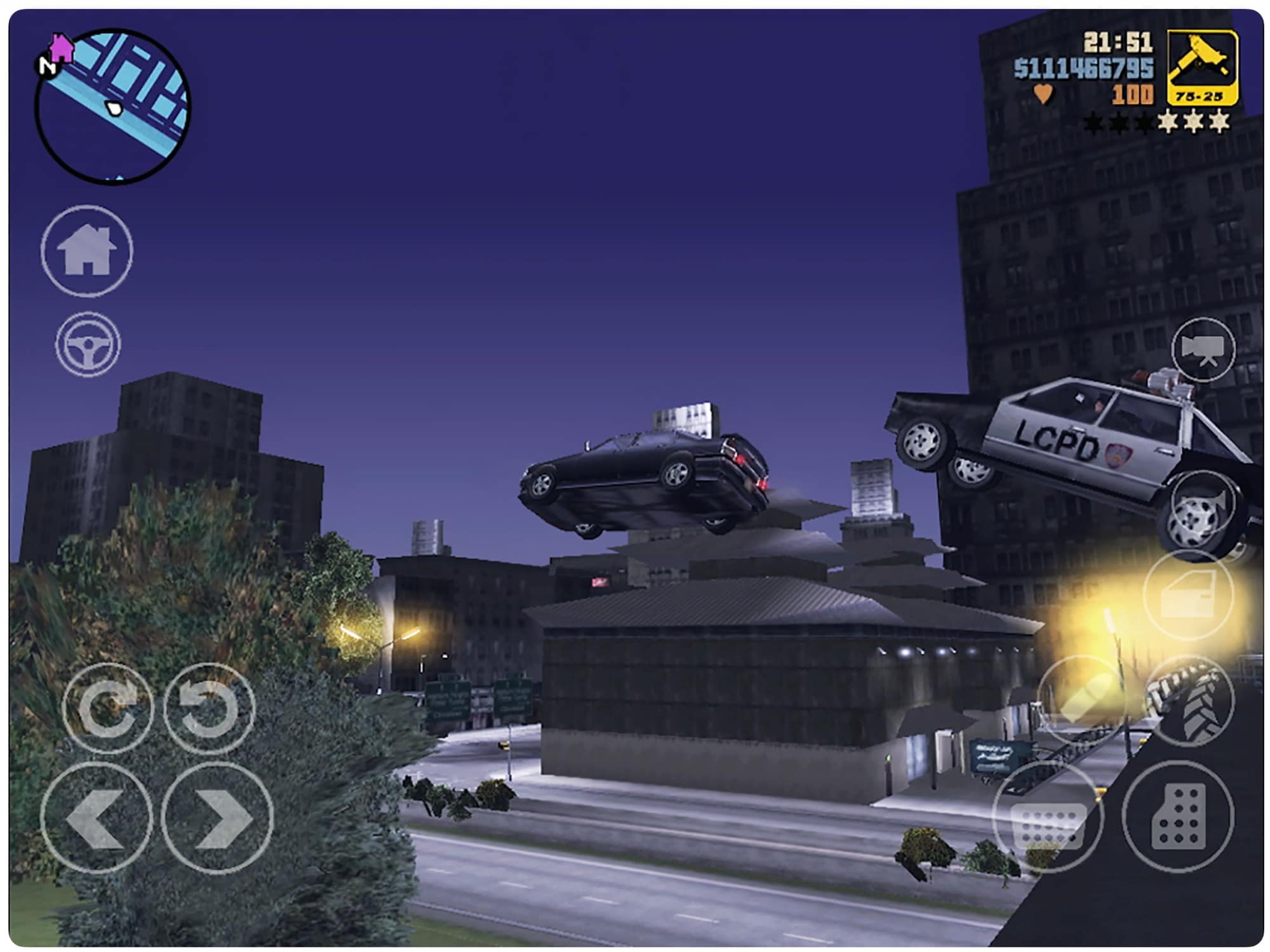 One of GTA III's more realistic car chases.