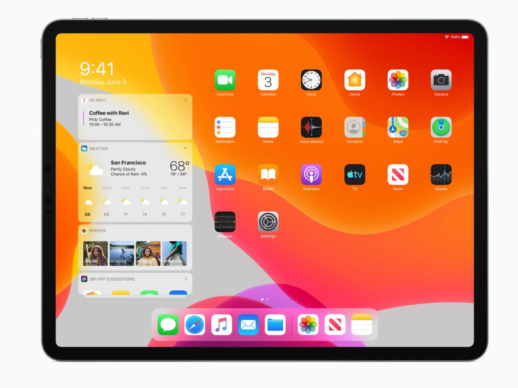 iPadOS gets a new home screen design.