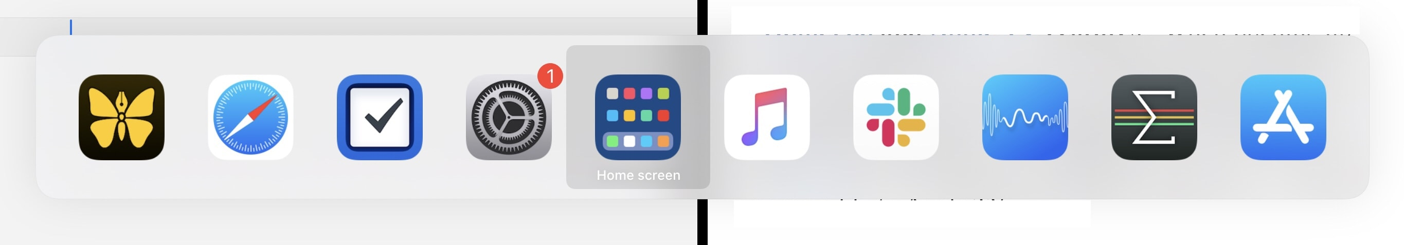 New home-screen icon in the app switcher.