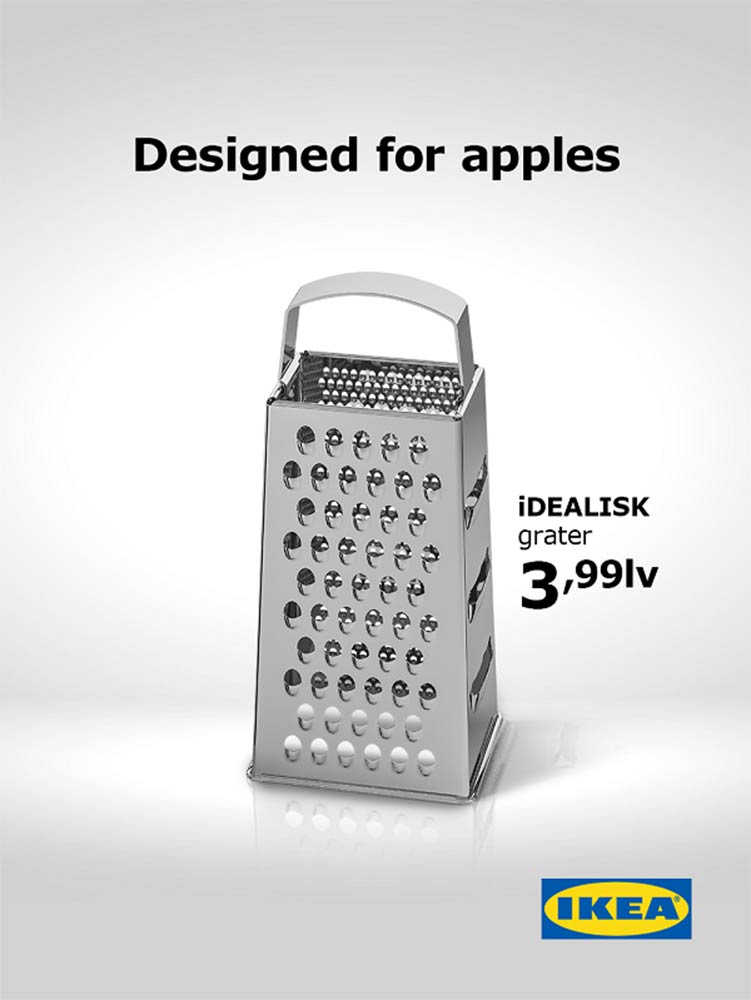 IKEA ad trolling Mac Pro cheese grater