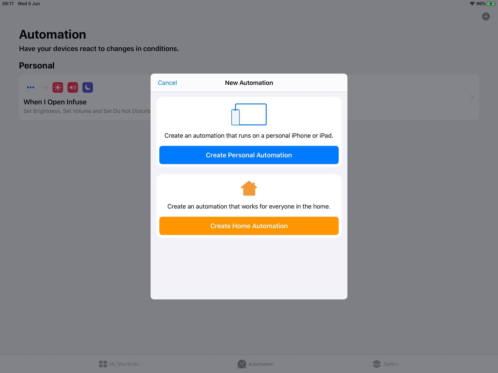 Accesos directos gana dos nuevos tipos de automatización en iOS 13.