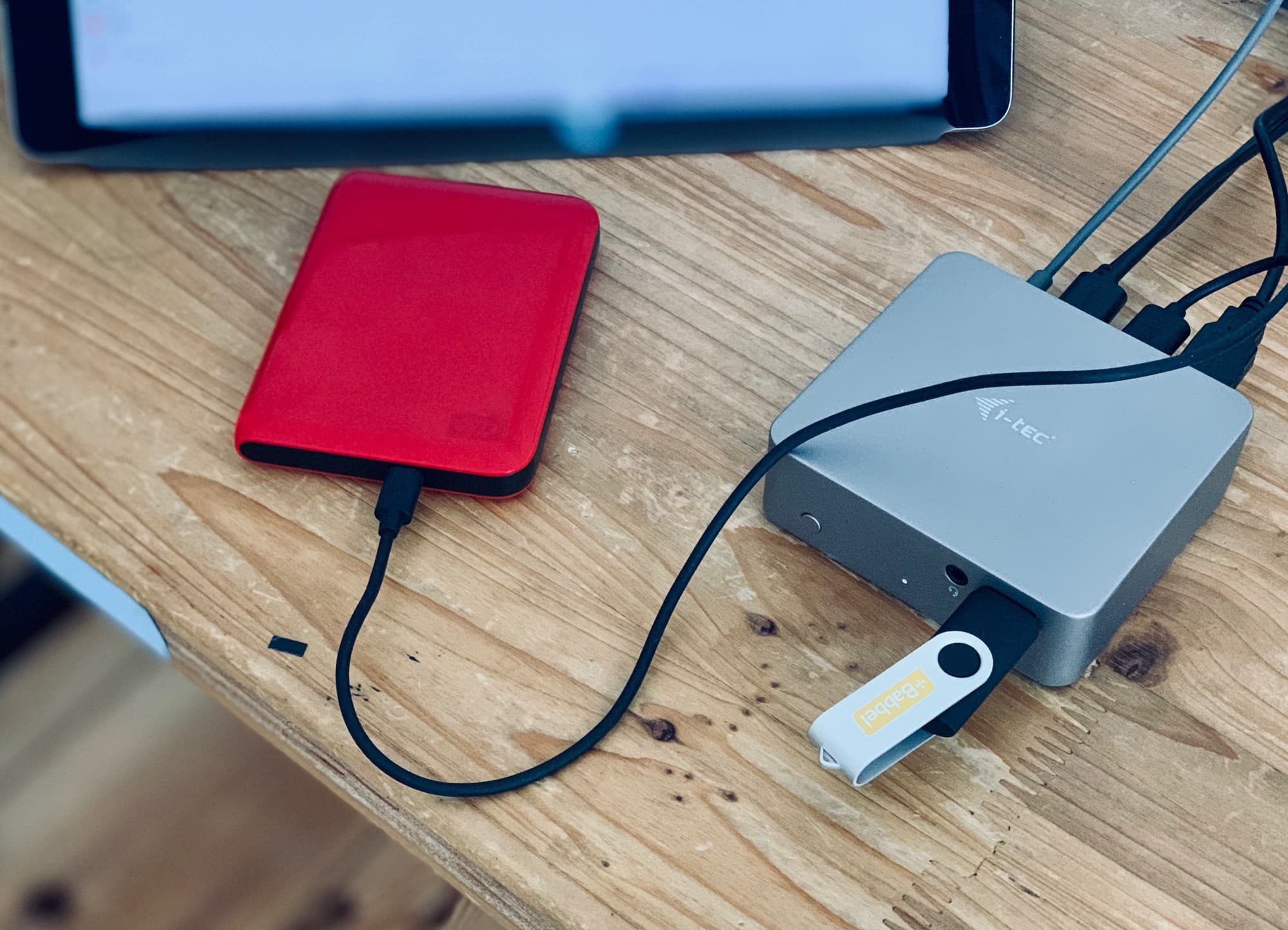 Hook up any and all USB storage devices to your iPad.
