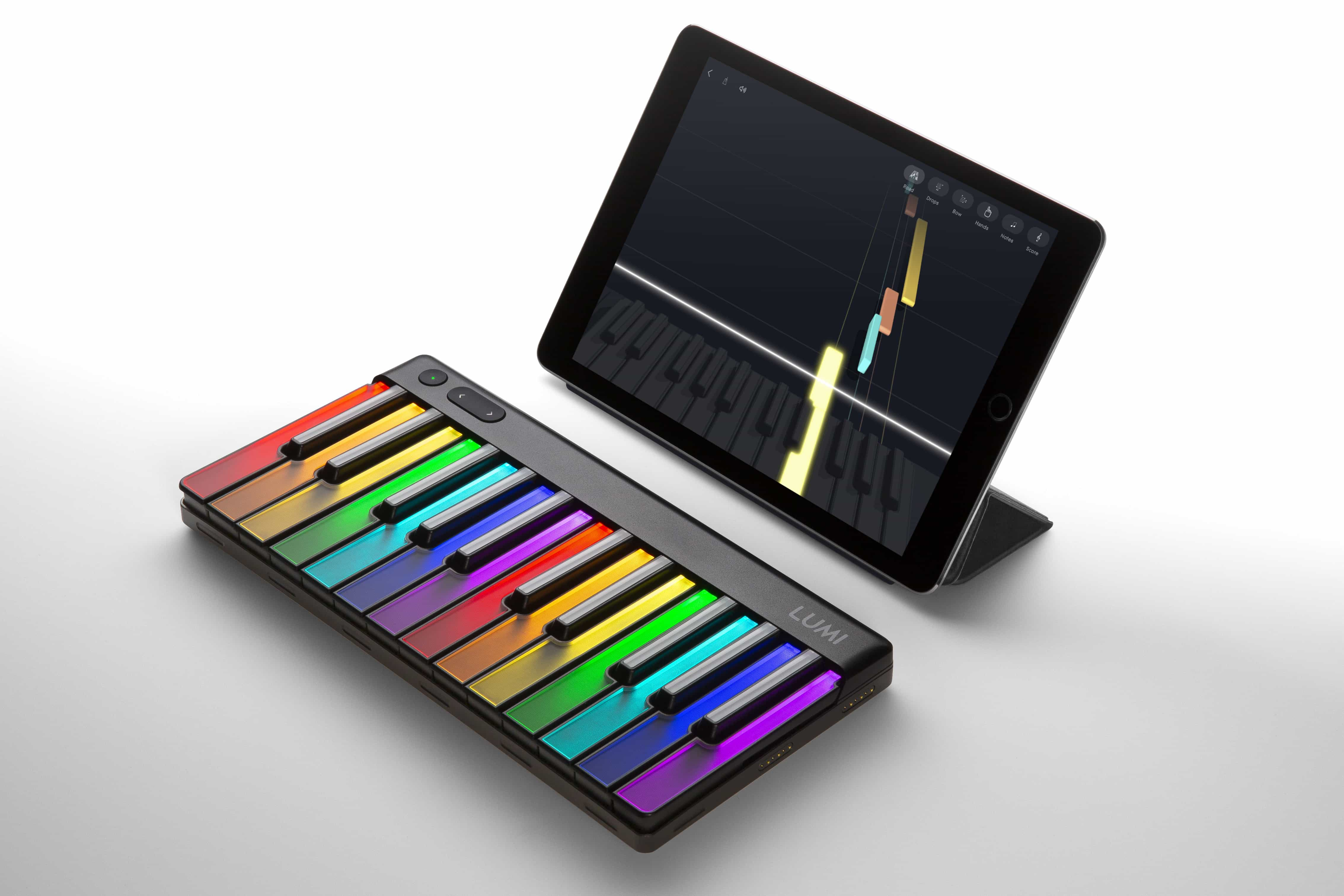 Roli Lumi keyboard lights up with pretty colors!