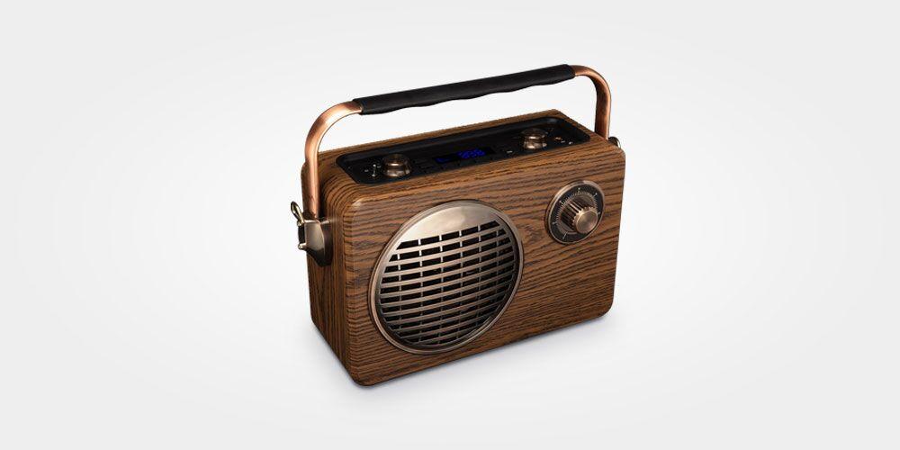 LuguLake Handheld Multi-Functional Retro Bluetooth Speaker