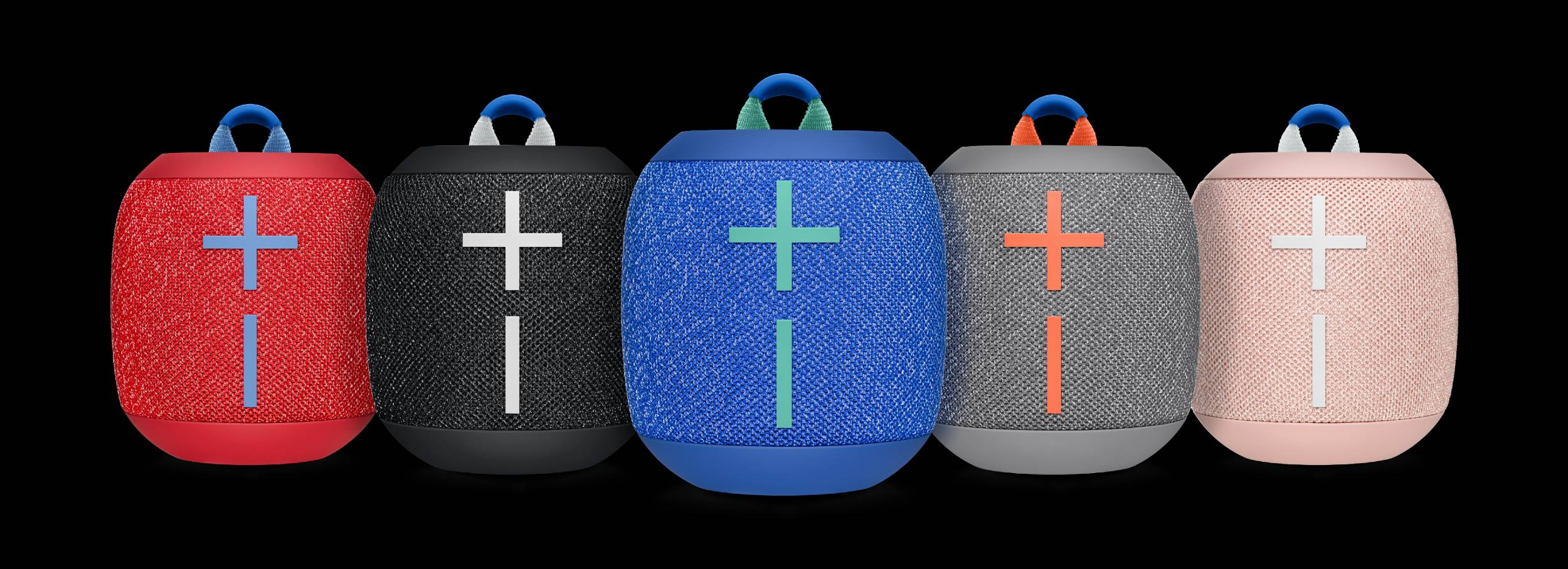 Each speaker comes in a stylish two-tone fabric, drawing Wonderboom 2 comes in five colors: Deep Space Black, Crushed Ice (gray), Radical Red, Bermuda Blue and Just Peach (pink).