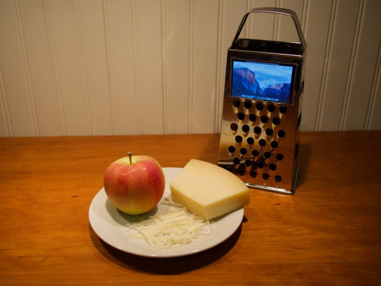 working cheese-grater Mac