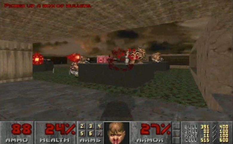 Doom II for iOS looks just like it did back in 1994.