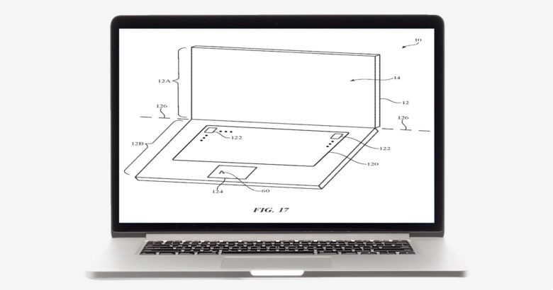 Dual-screen MacBook patent