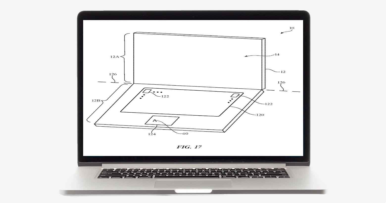 Dual-screen MacBook patent