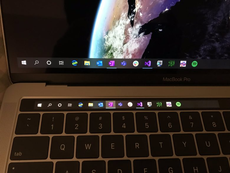 MacBook Pro's Touch Bar finally comes alive under Windows 10