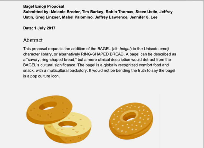 Proposed bagel emoji
