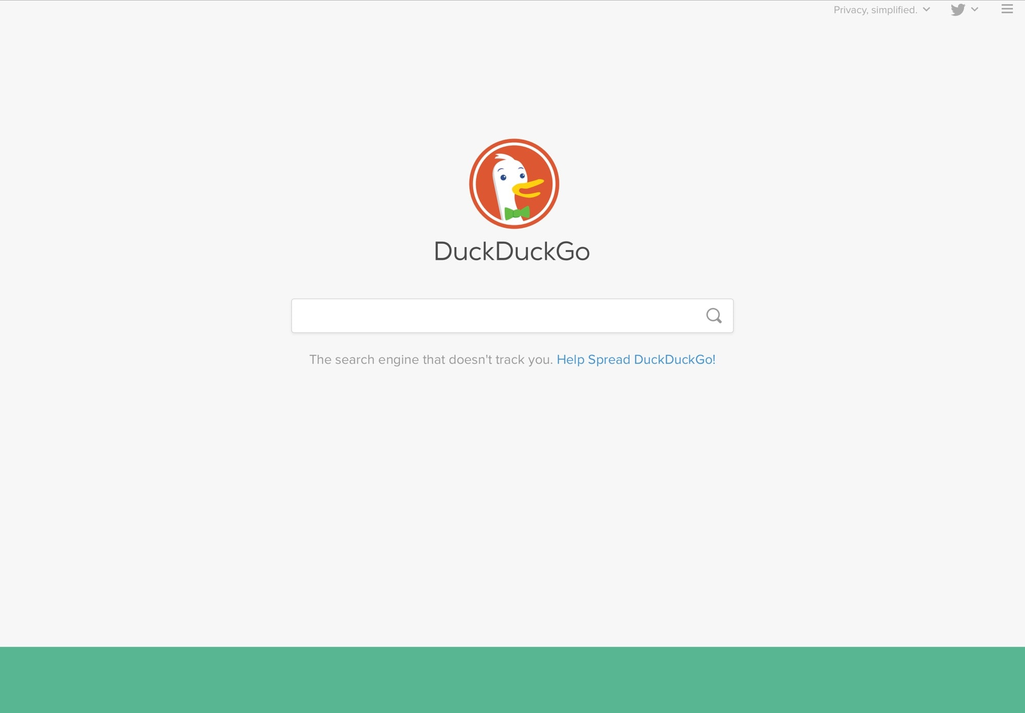 The DuckDuckGo interface looks nice and clean.