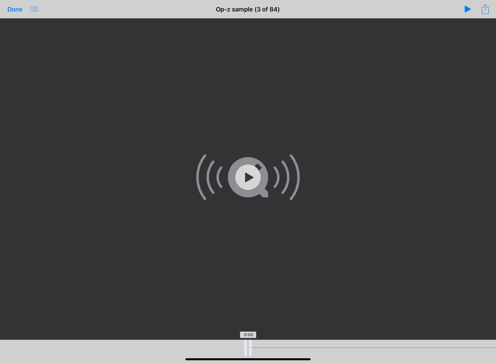 """This is the bad-old music """"quick look"""" screen."""