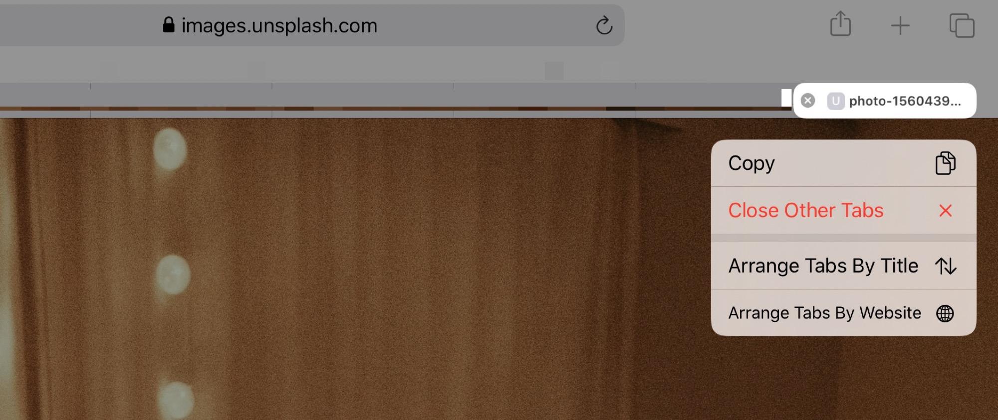 The new Safari tab menu in iOS 13.
