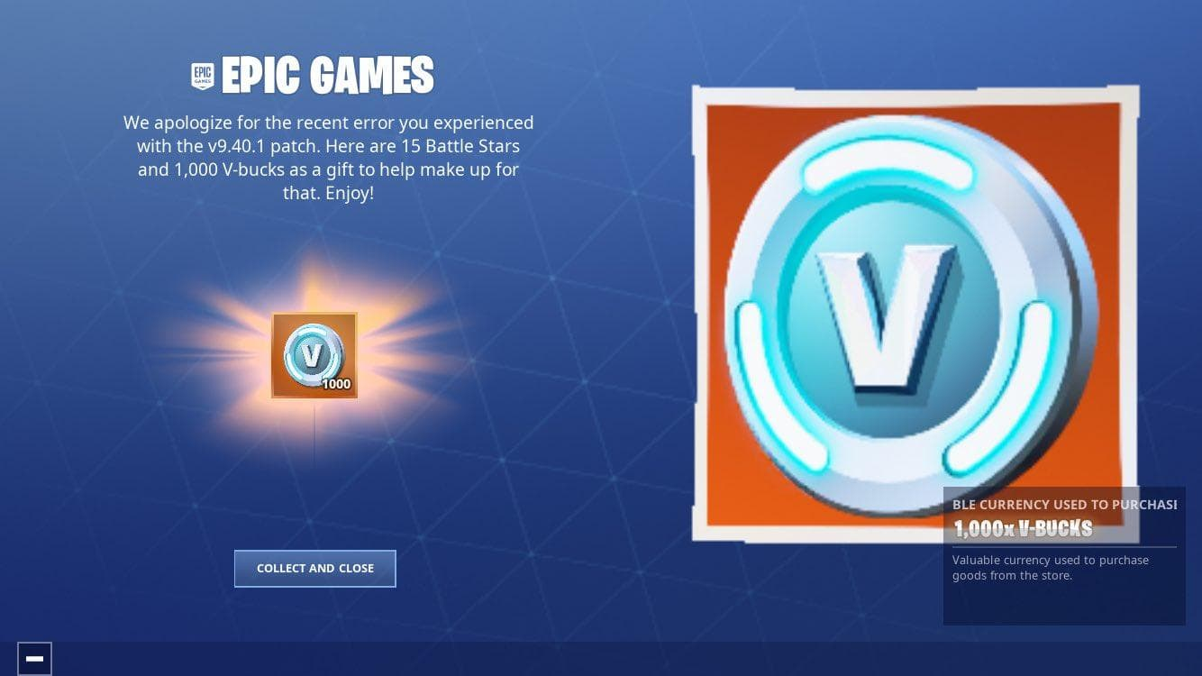 Fortnite players on iOS bag 1,000 free V-Bucks for update bug