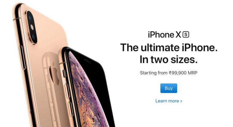 iPhone XS in India